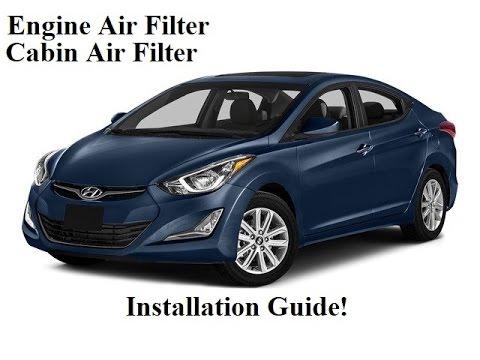 2010 2016 Hyundai Elantra Cabin Air Filter And Engine Air