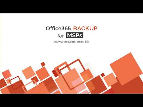 Altaro Office 365 Backup for MSPs - Pay Based on Usage