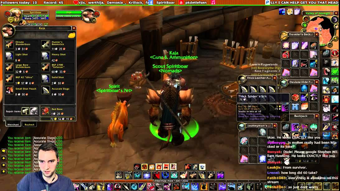 Vanilla wow valkyrie hunter leveling 27 59 60 for Wow portent 5 4