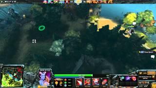 Dota 2: Пексик играет за Акашу (Квопа, Queen of Pain), бой 1 из 2 - win
