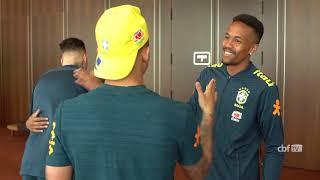 SELECAO BRASILEIRA se apresenta em PORTUGAL para amistoso contra o PANAMA