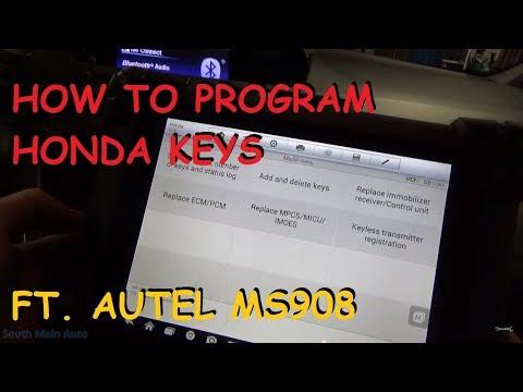 Programming Honda Keys Using Autel MS908