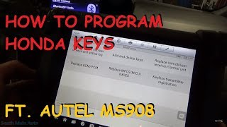 Programming Honda Keys Using Autel MS908