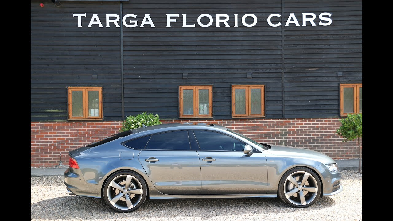 audi a7 3 0 bitdi quattro s line sped 313 black edition for sale at targa florio cars in sussex. Black Bedroom Furniture Sets. Home Design Ideas