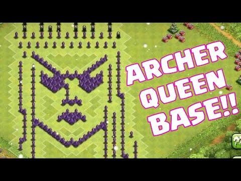 Clash Of Clans Archer Queen Defense Base Layout   Clash Of Clans Archer Queen Base