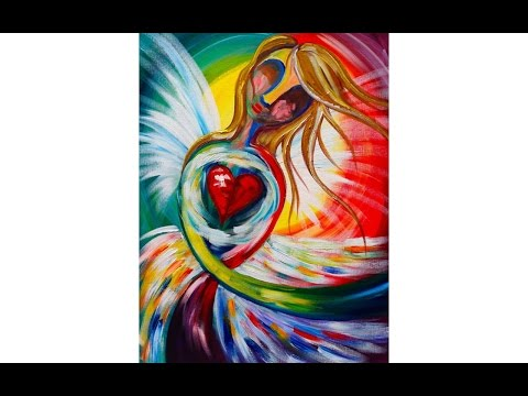 EASY Beginners acrylic painting | Abstract Angel | The Art Sherpa