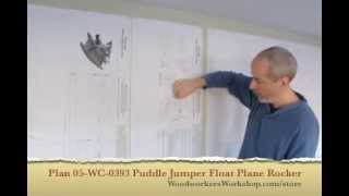 05-wc-0393 Puddle Jumper Rocking Airplane Woodworking Plan Review