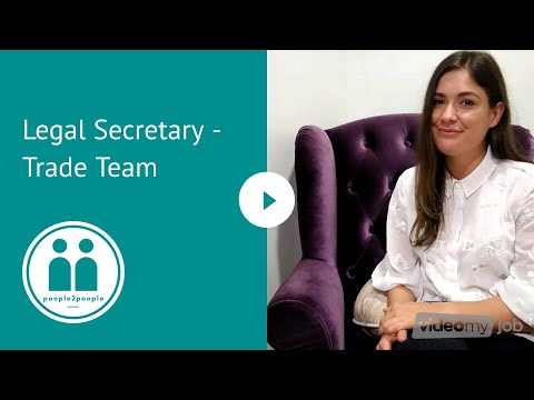 Legal Secretary Auckland - Trade team