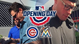 DIE HARD MARLINS FAN MEETS JUSTIN BOUR AND DEREK DIETRICH! - MARLINS OPENING DAY VLOG!
