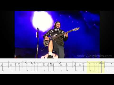 Robert Trujillo's bass solo + TABS (from the debut of 'Orion'   Metallica live Rock Am Ring 2006)