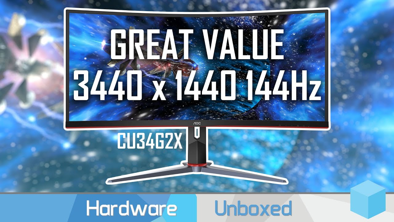 AOC CU34G2X Review, The Best Value 1440p 144Hz Ultrawide Monitor