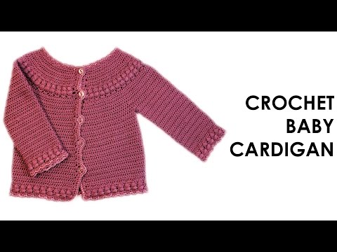 How to Crochet a Baby Cardigan 1-3 months Part 1\2
