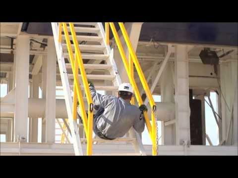 Lance E ActorStunts LEFT UNDONE Stair fall