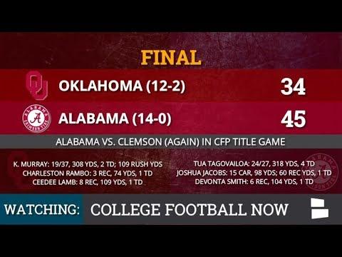 Alabama Football vs. Oklahoma Football Highlights From CFP Semifinal - Tua Tagovailoa Leads Way