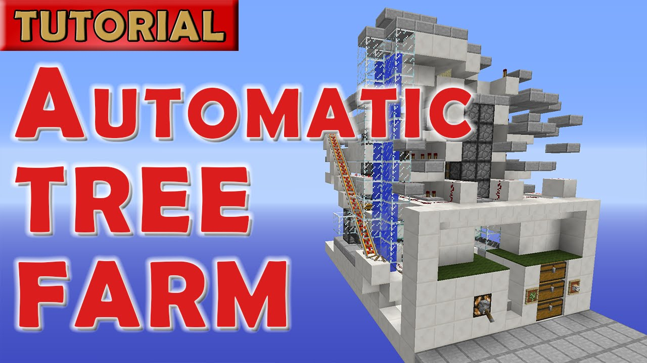 Minecraft 1.9 Automatic AFK Tree Farm   1400 Logs/hour   NO Wither!    YouTube