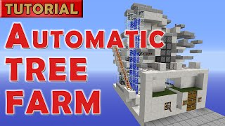 Minecraft 1.9 Automatic AFK Tree Farm  - 1400 logs/hour - NO Wither!