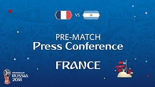 2018 fifa world cup russia - fra vs arg - france pre-match press conference