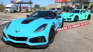 TAKING DELIVERY of the ONLY PTS Porsche Cayman GT4 in the U.S!!! **1 OF 1 PAINT SPEC!**