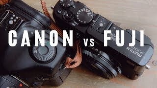 5D mark 1 vs Fujifilm x100s