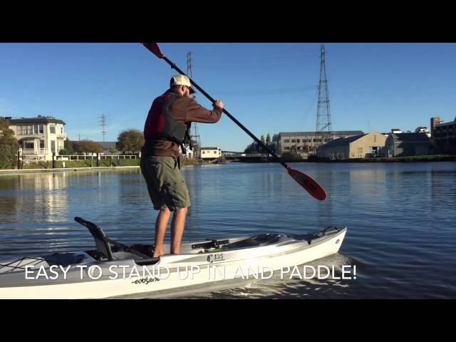CLAVEY PADDLESPORTS Demos the Stratofisher C135 by Eddyline Kayaks