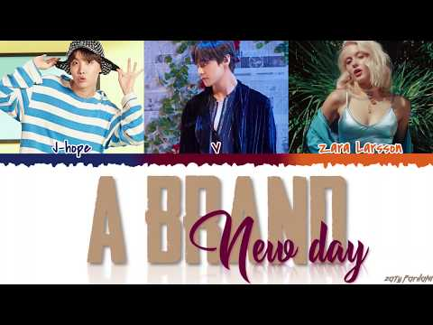 BTS (V & JHOPE) - 'A Brand New Day' Ft. ZARA LARSSON Lyrics [Color Coded_Han_Rom_Eng]