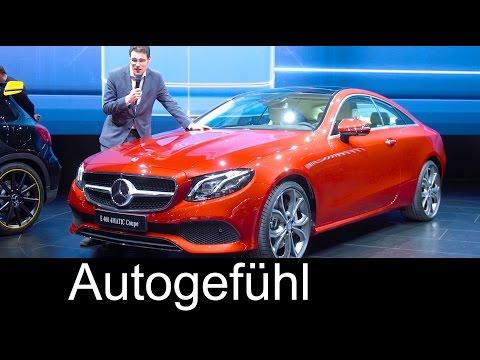 Mercedes E-Class Coupé E-Klasse Premiere REVIEW new neu 2018 - Autogefühl