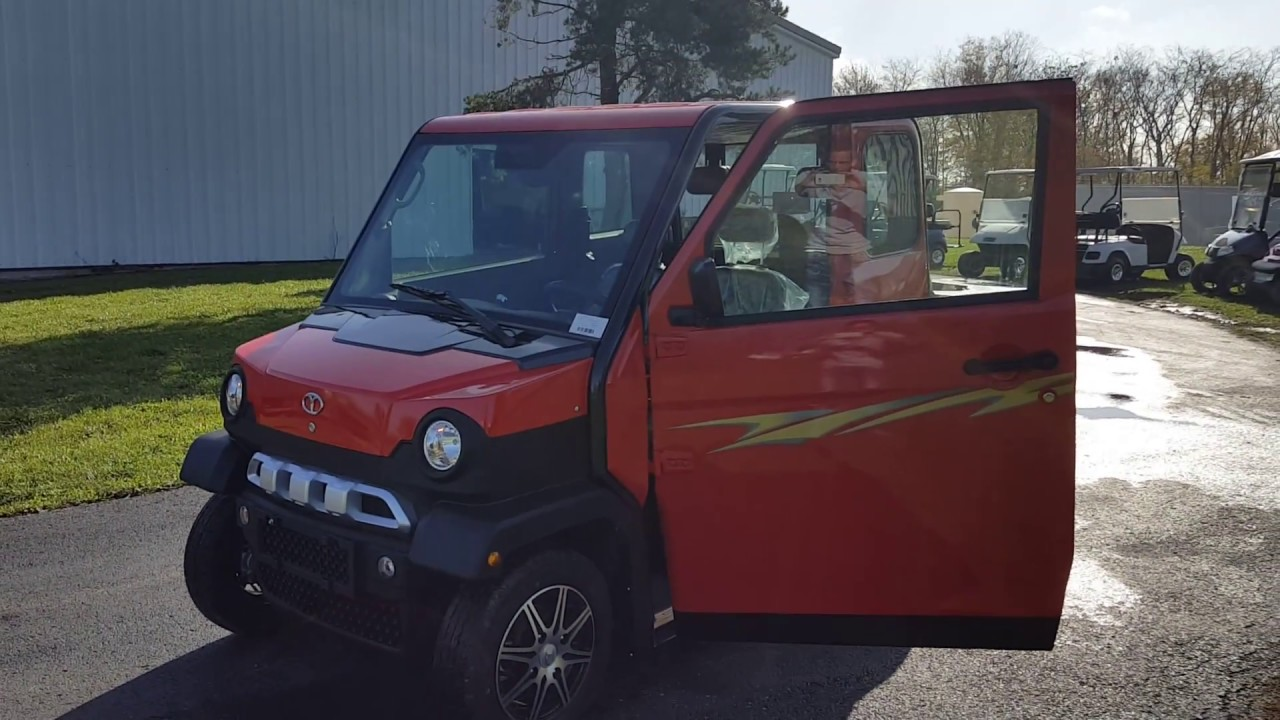 Low Speed Vehicles >> Red Lsv Low Speed Vehicle On Road Street Legal For Sale