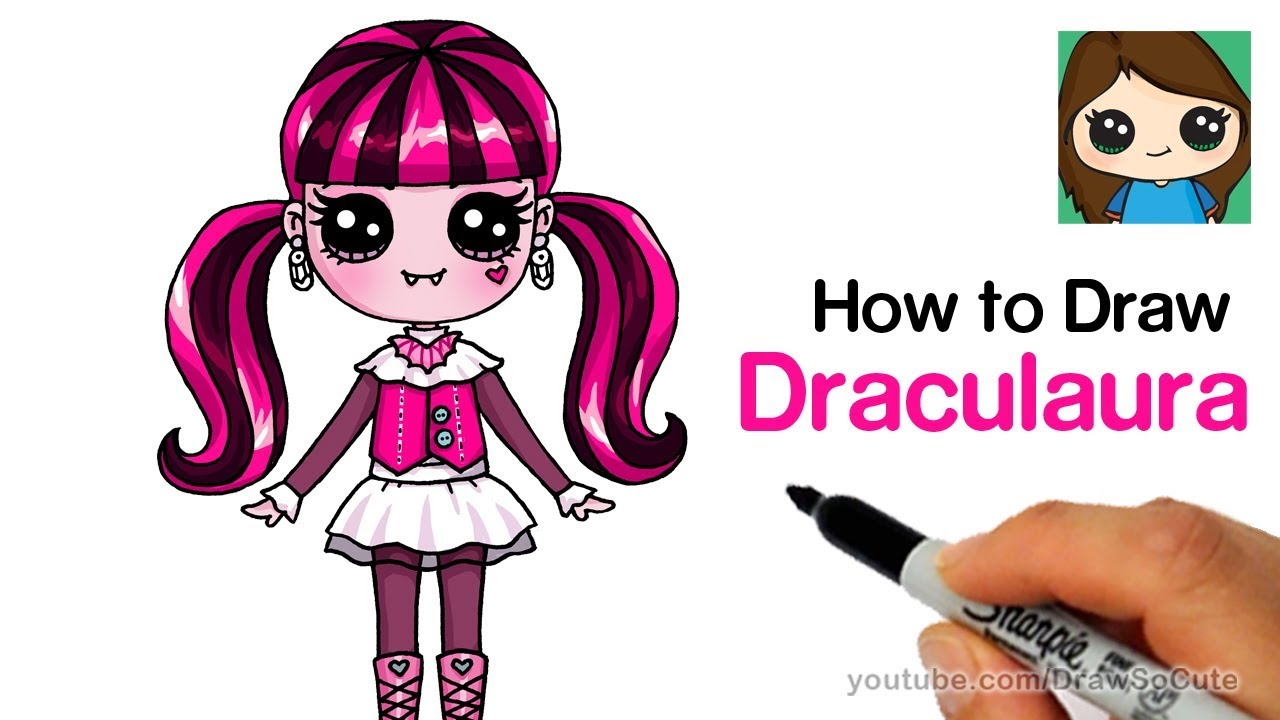 How to draw Draculaura