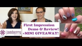First Impression Demo & Review - Jamberry Nail Wraps (with special guest) + Mini GIVEAWAY! Thumbnail
