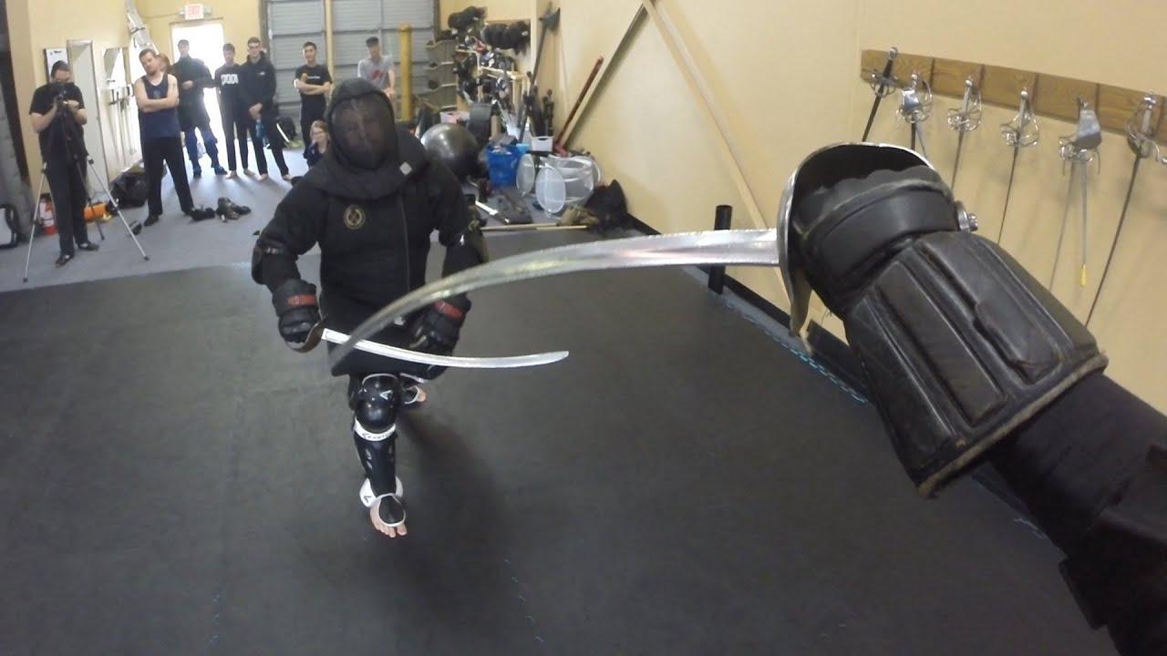 HEMA instructors fighting with the Polish saber - Lee Smith vs  Richard  Marsden