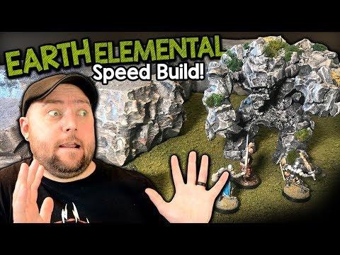 Earth Elemental / Rock Golem Miniature For D&D Build Tutorial (Black Magic Craft Episode 089)