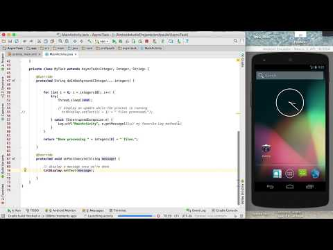 How to implement multi-threading in Android using AsyncTask