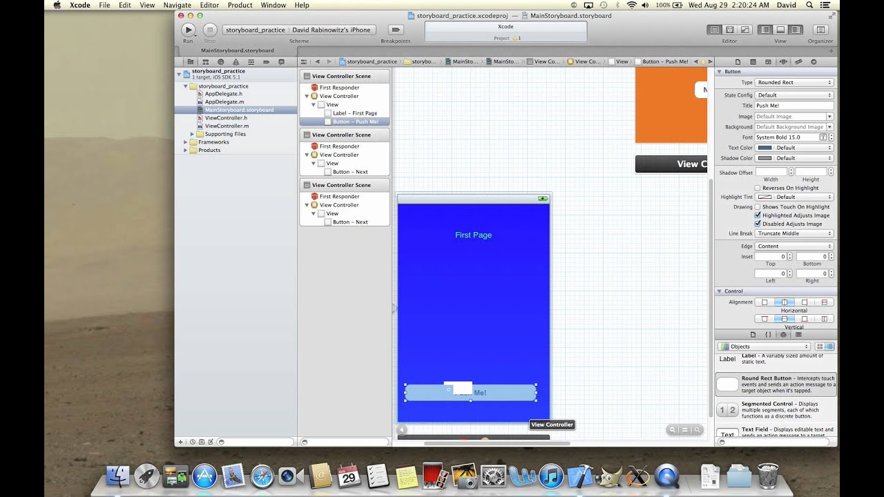 Drawing Line Xcode : Xcode tutorial how to use storyboard youtube