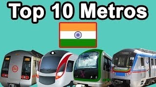 10 Largest Metro Systems in India (2018)