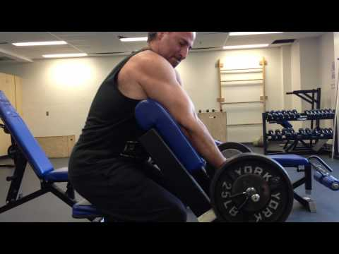 Bicep Exercise: The Preacher Curl