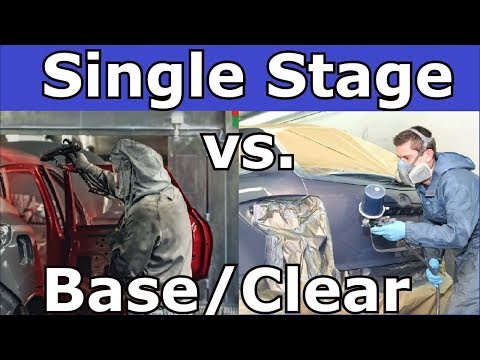 Single Stage Vs Base Coat,Clear Coat Cost Factor And Features Of Both Methods