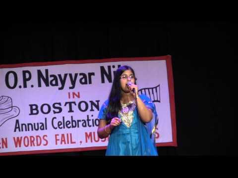 Anusha singing Jaayiye Aap Kahan Jaayenge at the O.P.Nayyar Musical Event in Boston