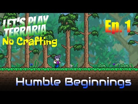 Let's Play Terraria - No Crafting Ep. 1 - Humble Beginnings
