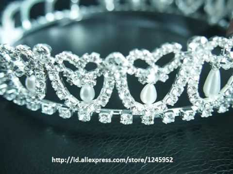 Silver and gold Bridal Tiara from China Princess  Full Round Miss Beauty Pagent   Queen Crown For Sa