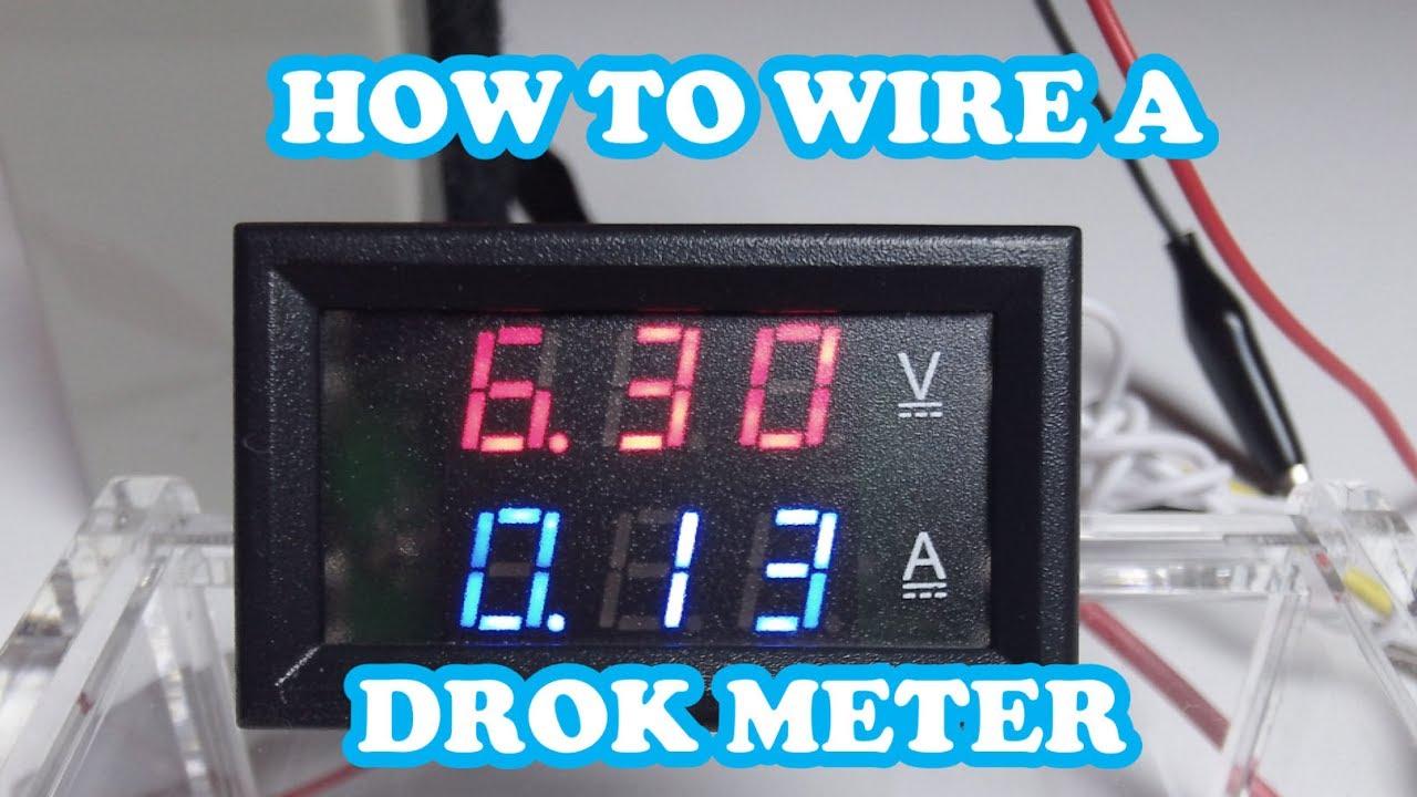 drok led 100v dc 10amp meter how to wire eye on stuff youtube. Black Bedroom Furniture Sets. Home Design Ideas