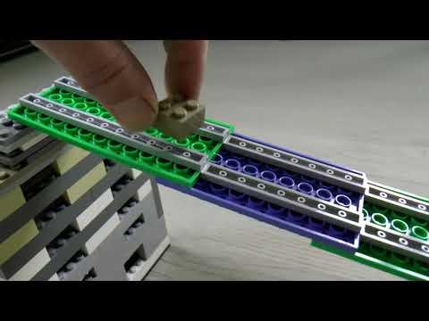 Mini Marble run race handmade with lego blocks and car, ASMR