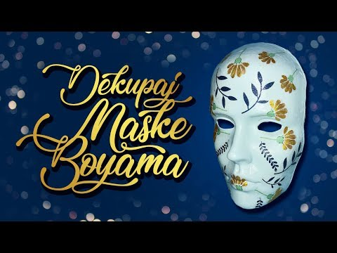 Dekupaj Maske Boyama Diy Decoupage Mask Tutorial Youtube