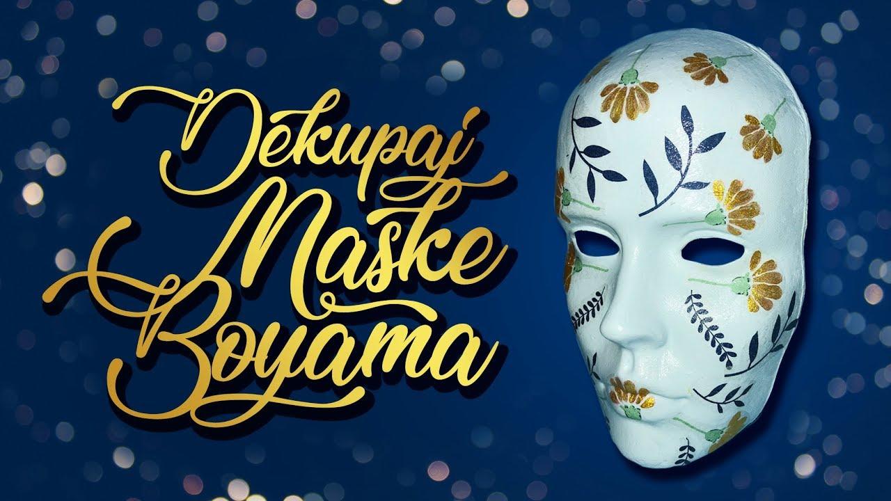 Dekupaj Maske Boyama Diy Decoupage Mask Tutorial Youtube