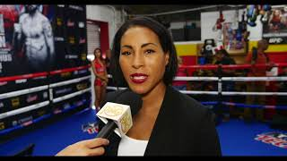 Cecilia Braekus, boxing's only undisputed champ, talks about fighting on GGG-Martirosyan undercard