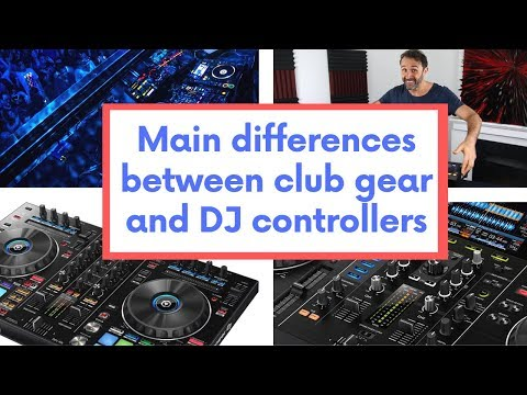 Difference between Pioneer DJ controllers and CDJs