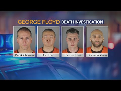 Officers In George Floyd's Death Charged, Jailed