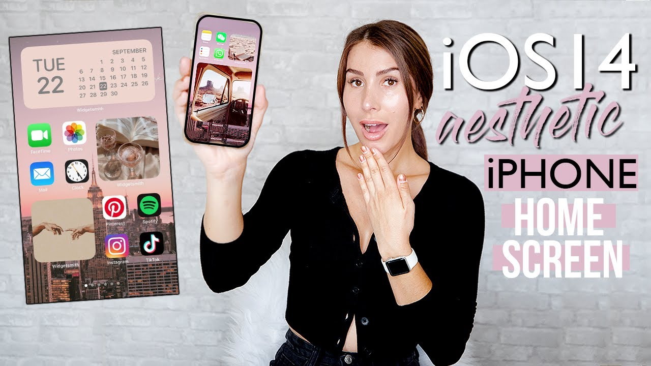 Ios 14 How To Customize Your Iphone Aesthetic Ideas Youtube