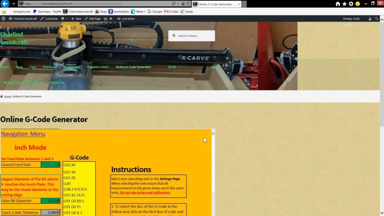 Online G Code Generator