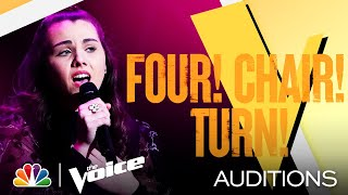 "Anna Grace's Intimate Performance of Billie Eilish's ""my future"" - The Voice Blind Auditions 2021"