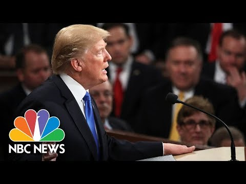 President Donald Trump's First State Of The Union In 150 Seconds | NBC News